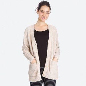 Uniqlo Fluffy Yarn Lounge Cardigan (Long Sleeve)